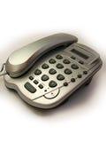 Серебряный телефон Стоковые Фото