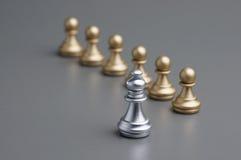 Серебряный шахмат епископа Стоковые Фото