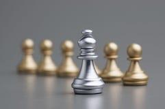 Серебряный шахмат епископа Стоковое Фото