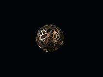 Серебряный шкентель в форме шарика стоковые фото