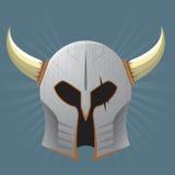 Серебряный шлем ратника Стоковая Фотография
