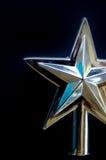 Серебряный экстракласс звезды рождественской елки Стоковое Изображение