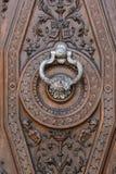 Серебряный knocker стоковое фото