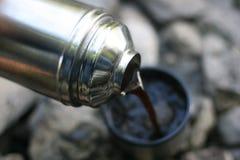 серебряный thermos Стоковое Изображение