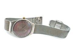 Серебряный wristwatch Стоковое Изображение