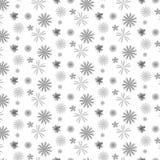 Серебряным предпосылка картины тени разбросанная цветком Стоковая Фотография RF