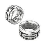 2 серебряных кольца изолированного на белизне Стоковое Изображение