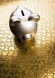 серебр банка piggy Стоковое Изображение