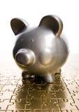 серебр банка piggy Стоковые Изображения RF