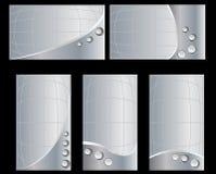 серебр визитной карточки 2 установленный Стоковые Фото