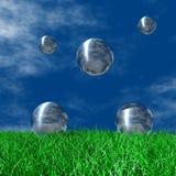 серебр глобусов Стоковые Изображения