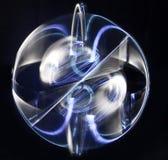 Серебр-голубая сфера. стоковое фото rf