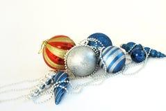 серебр голубого красного цвета предпосылки Стоковая Фотография