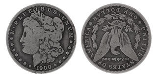 серебр доллара Стоковое Изображение
