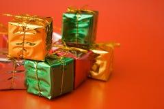 серебр золота зеленый Стоковое Изображение