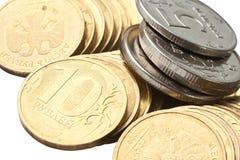 серебр золота монеток Стоковая Фотография