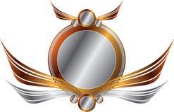 серебр золота рамки Стоковое фото RF
