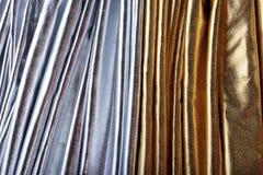 серебр золота ткани роскошный Стоковое фото RF