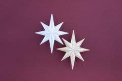 серебр золота украшения рождества играет главные роли 2 Стоковые Фото