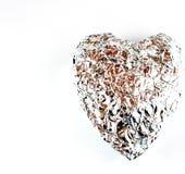 серебр изолята сердца Стоковое фото RF