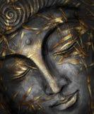 Серебр и золото акварели Будды стоковое изображение