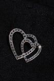 Серебр и фибула сердца marcasite. Стоковая Фотография RF