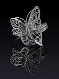 серебр кольца Стоковое Изображение RF
