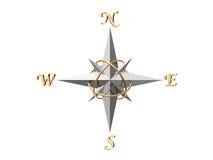 серебр компаса Стоковые Фото