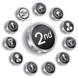 серебр комплекта медали икон олимпийский Стоковые Изображения