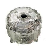серебр коробки круглый Стоковые Изображения RF