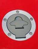 серебр металлического предмета индустрии красный круглый Стоковое Фото