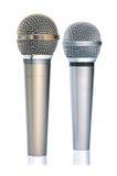 серебр микрофонов золота Стоковое Фото