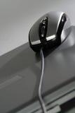 серебр мыши компьтер-книжки Стоковое Фото