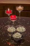 серебр пирожнй декоративный брызгает белизну Стоковое Изображение