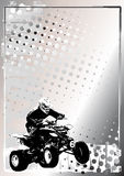 серебр плаката motorsport предпосылки Стоковое Фото