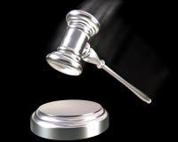 серебр платины gavel Стоковые Изображения