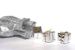 серебр подарков мешка Стоковые Изображения RF