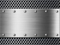 серебр предпосылки металлопластинчатый Стоковое Изображение RF