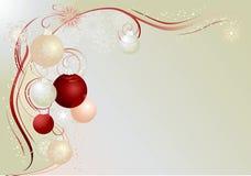 серебр рождества предпосылки Стоковое Изображение
