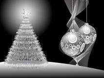 серебр рождества предпосылки иллюстрация вектора