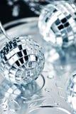 серебр рождества шариков Стоковая Фотография RF