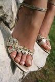 серебр сандалий Стоковая Фотография