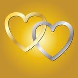 серебр сердец золота бесплатная иллюстрация