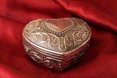 серебр сердца богато украшенный Стоковые Фотографии RF