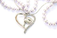серебр сердца Стоковая Фотография