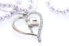 серебр сердца Стоковые Изображения