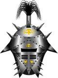Серебр средневекового шлема фантазии сияющий Стоковое Изображение RF