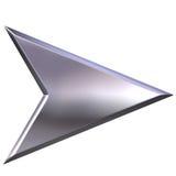 серебр стрелки 3d Стоковые Фото