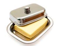 серебр тарелки масла изолированный Стоковое фото RF