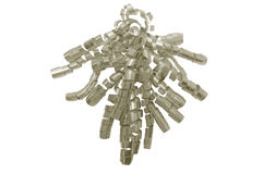 серебр тесемки подарка Стоковое Изображение
